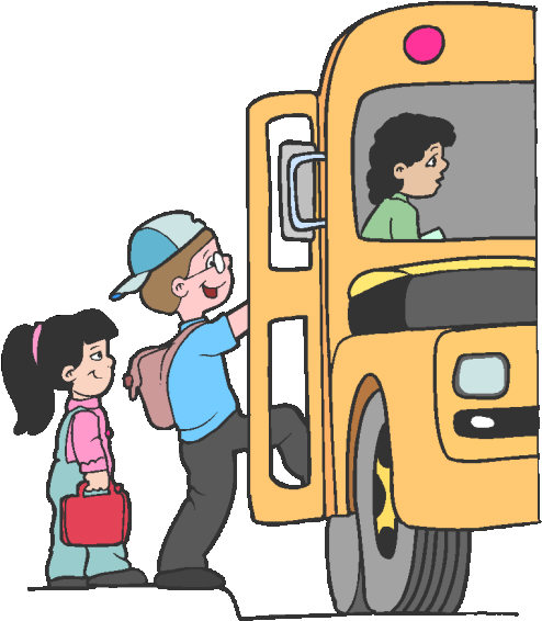 kids loading bus
